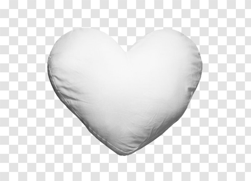 White - Heart - Black And Transparent PNG