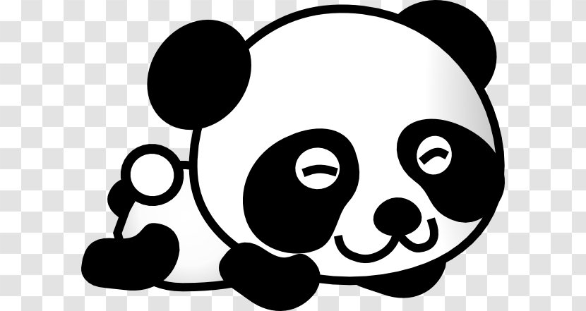 Giant Panda Bear Baby Pandas Drawing Clip Art Monochrome Photography Gambar Kartun Transparent Png