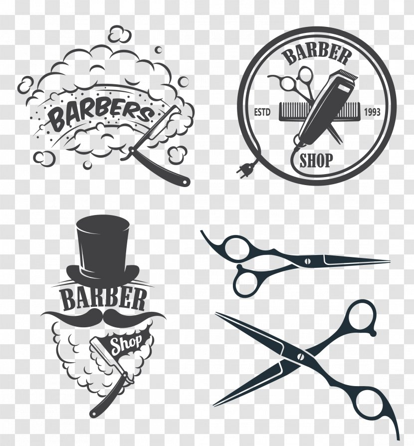 Barber Hairdresser Logo Beauty Parlour Clip Art Salon Transparent Png
