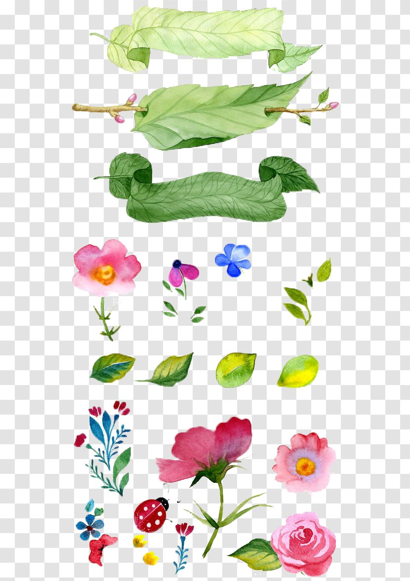 Watercolor Painting Flower Illustration - Hand-painted Flowers Transparent PNG