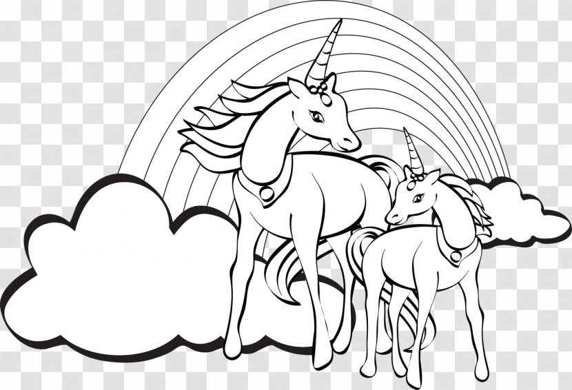 Unicorn Coloring Book Colouring Pages Child Rein Transparent Png