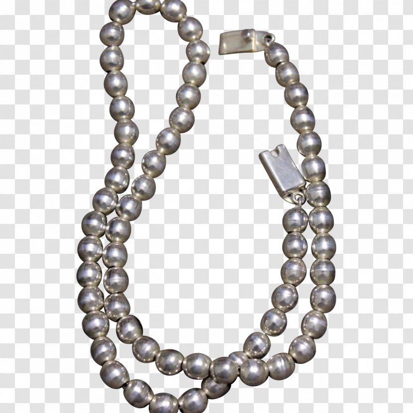 Pearl Taxco Necklace Sterling Silver Jewellery - Body Transparent PNG