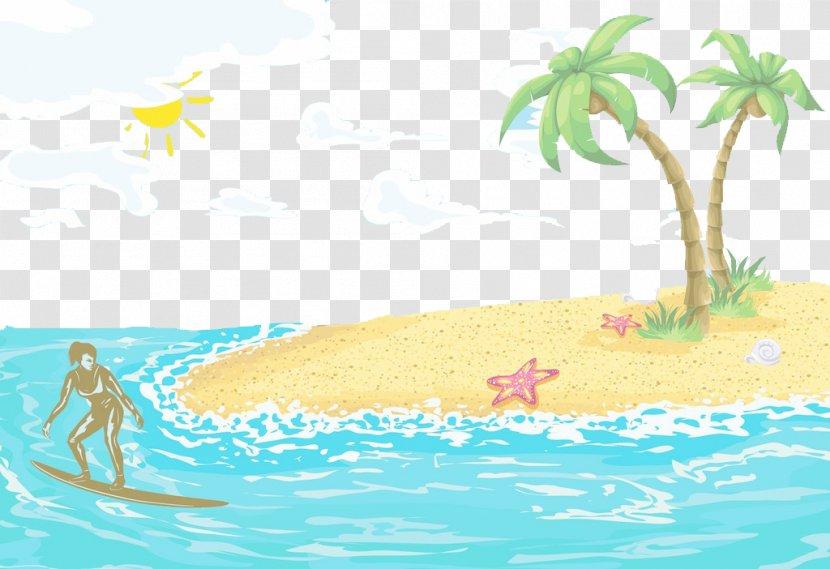 Poster Wind Wave Illustration - Recreation - Summer Surfing Transparent PNG