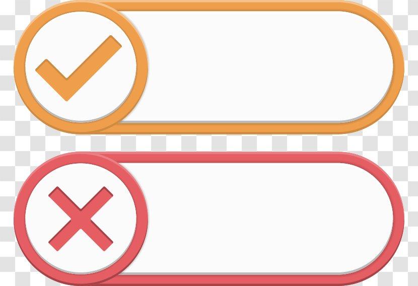 Check Mark Graphic Design Euclidean Vector Icon - Wrong Button Label Transparent PNG