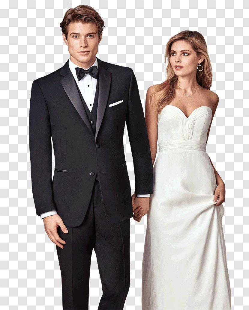 Tuxedo Prom Formal Wear Wedding Suit - Black Man Transparent PNG