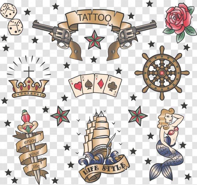 Old School (tattoo) Sailor Tattoos - Pattern - Vector Pistol Transparent PNG