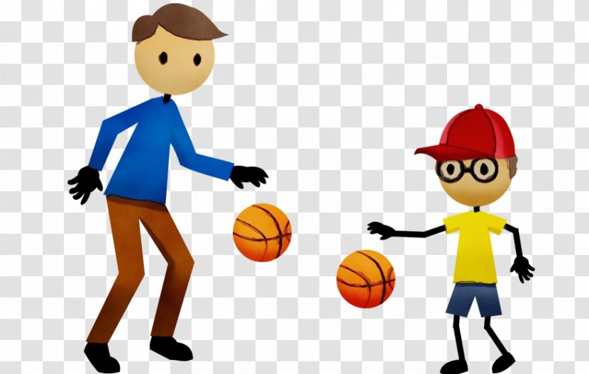 Cartoon Playing Sports Basketball Player Throwing A Ball Sharing Animated Play Transparent Png