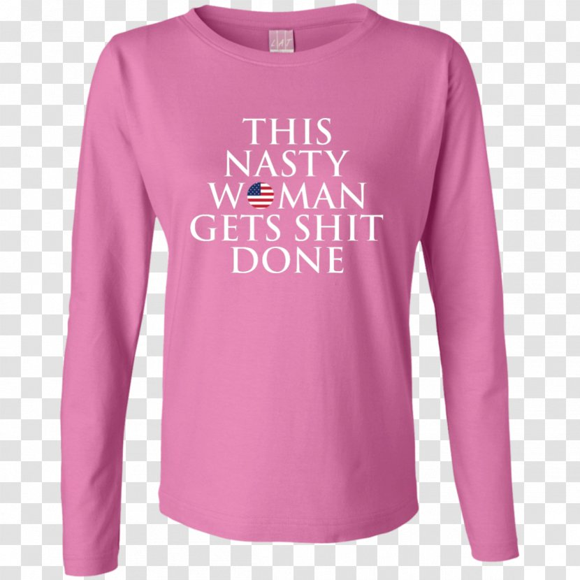 Long-sleeved T-shirt Hoodie - Sweatshirt Transparent PNG