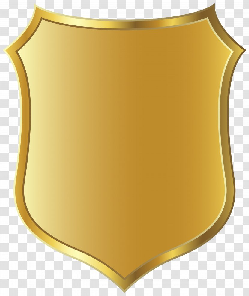 YoWorld Badge Police Officer Military - Gold Template Clipart Picture Transparent PNG