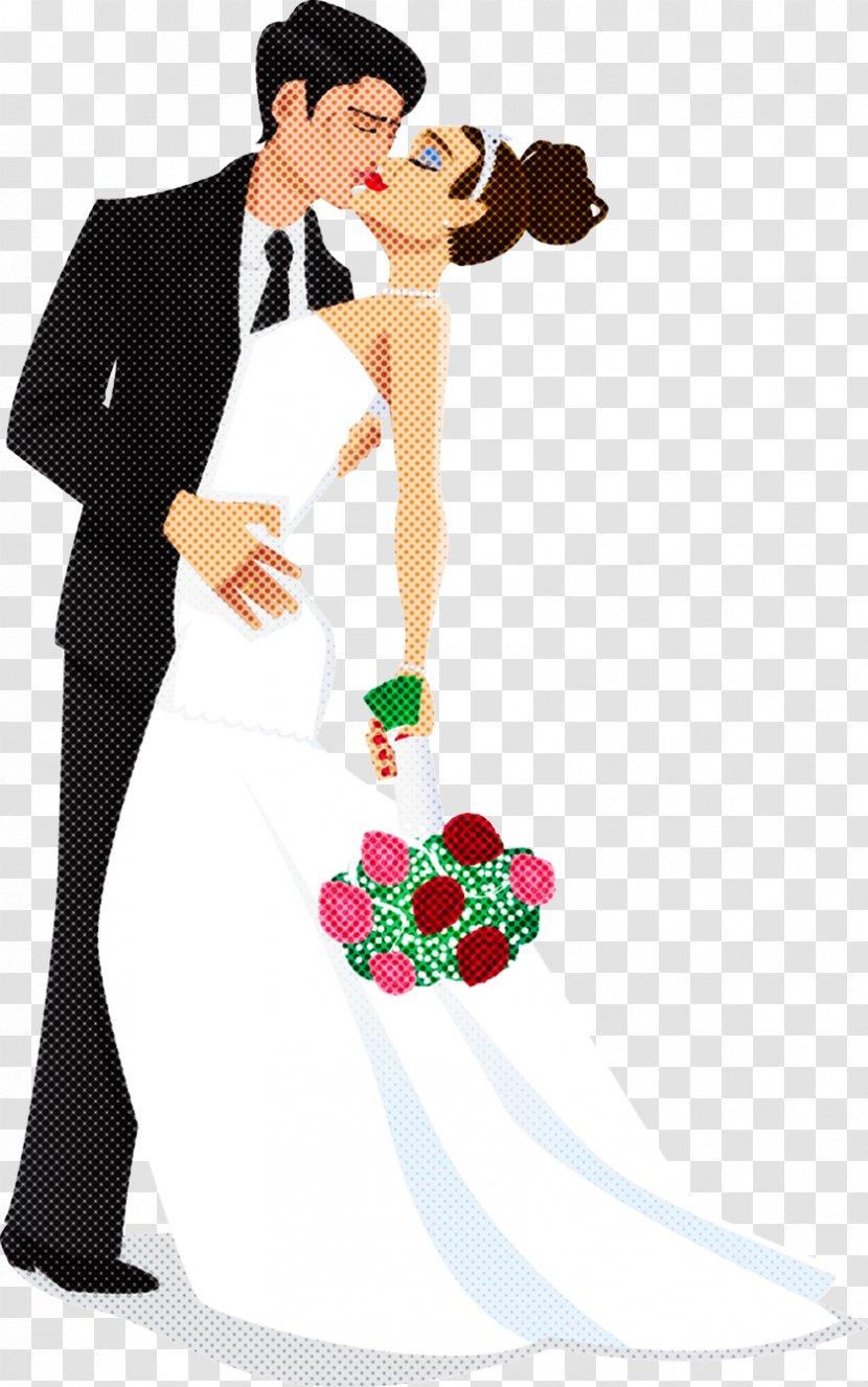 Bride And Groom Cartoon - Direct - Art Gesture Transparent PNG