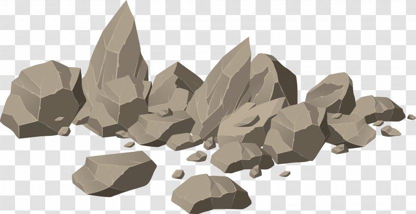 Rock Royalty-free Boulder Illustration - Brown Stone Heap Vector Transparent PNG