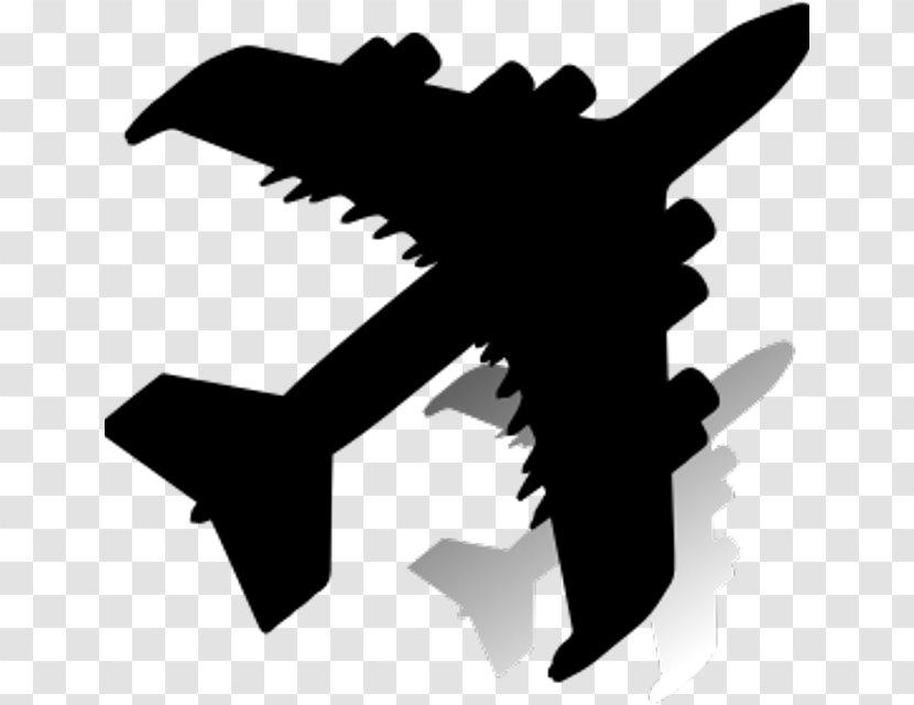 Airplane Silhouette Aircraft Logo Blackandwhite Transparent Png
