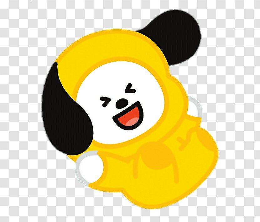 kpop cartoon yellow rm line friends
