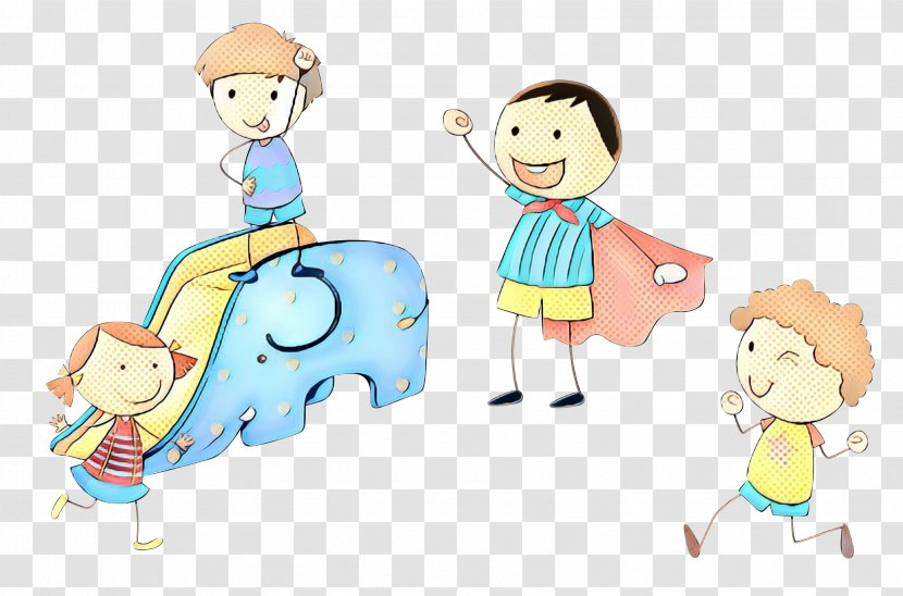 Kids Playing Cartoon - Child - With Sharing Transparent PNG