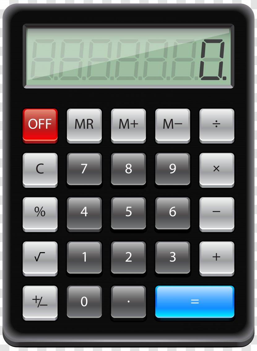 Calculator Clip Art Transparent PNG
