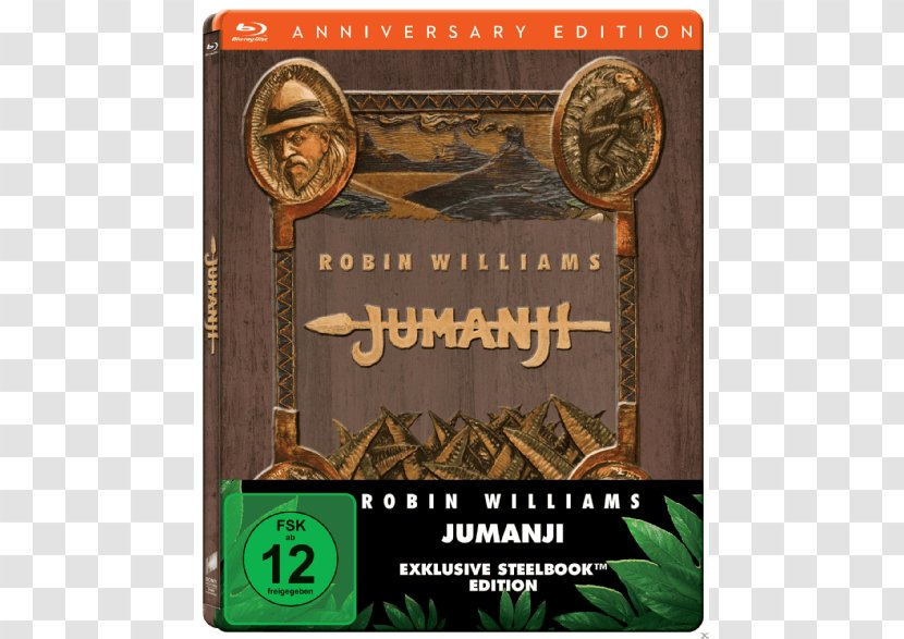 Blu-ray Disc Alan Parrish 4K Resolution Game Film - Robin Williams - Jumanji Transparent PNG