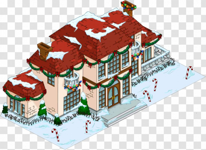 The Simpsons Tapped Out Fat Tony Christmas Homer Simpson Gingerbread House Facade Simpsons Movie Transparent Png
