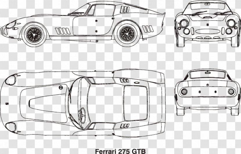 Ferrari 275 Car Laferrari Drawing Coloring Book Transparent Png