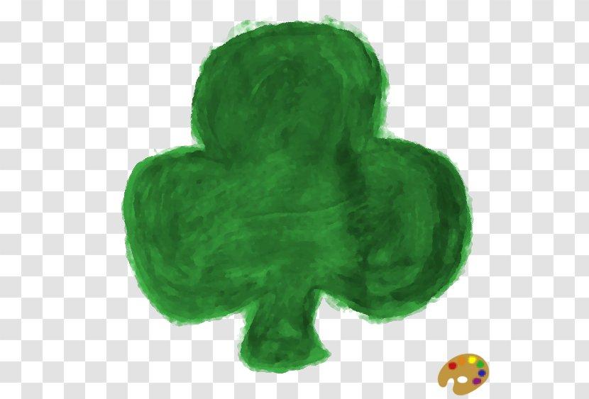 Shamrock - Green - Clover Painted Transparent PNG