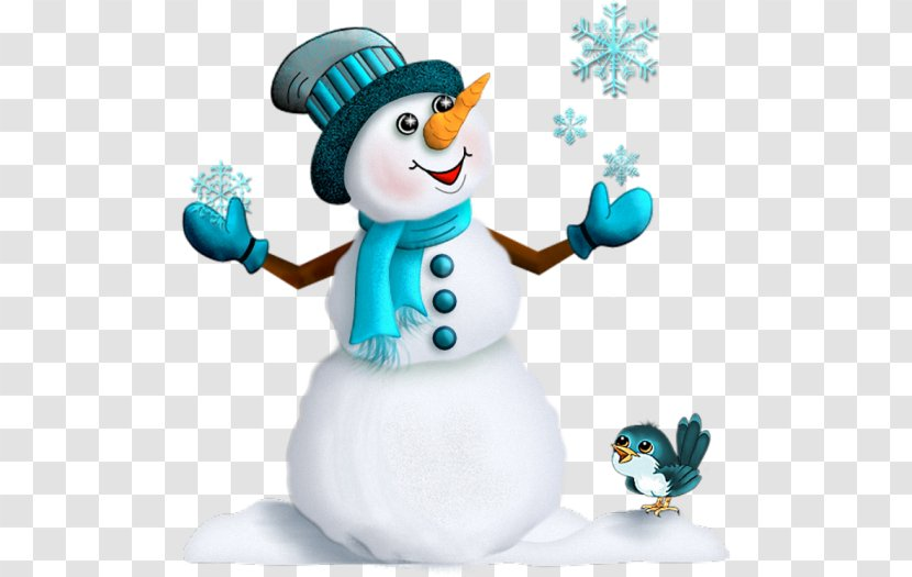 Christmas Santa Claus Snowman New Year's Day - Blue Transparent PNG