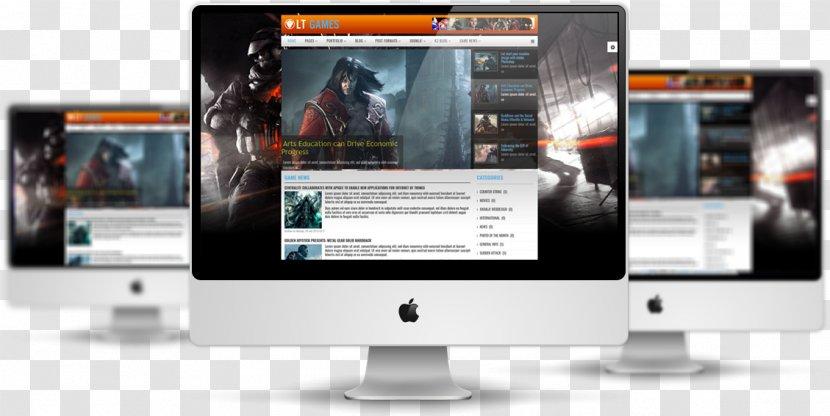 Responsive Web Design Template Computer Software Video Game Wordpress Transparent Png