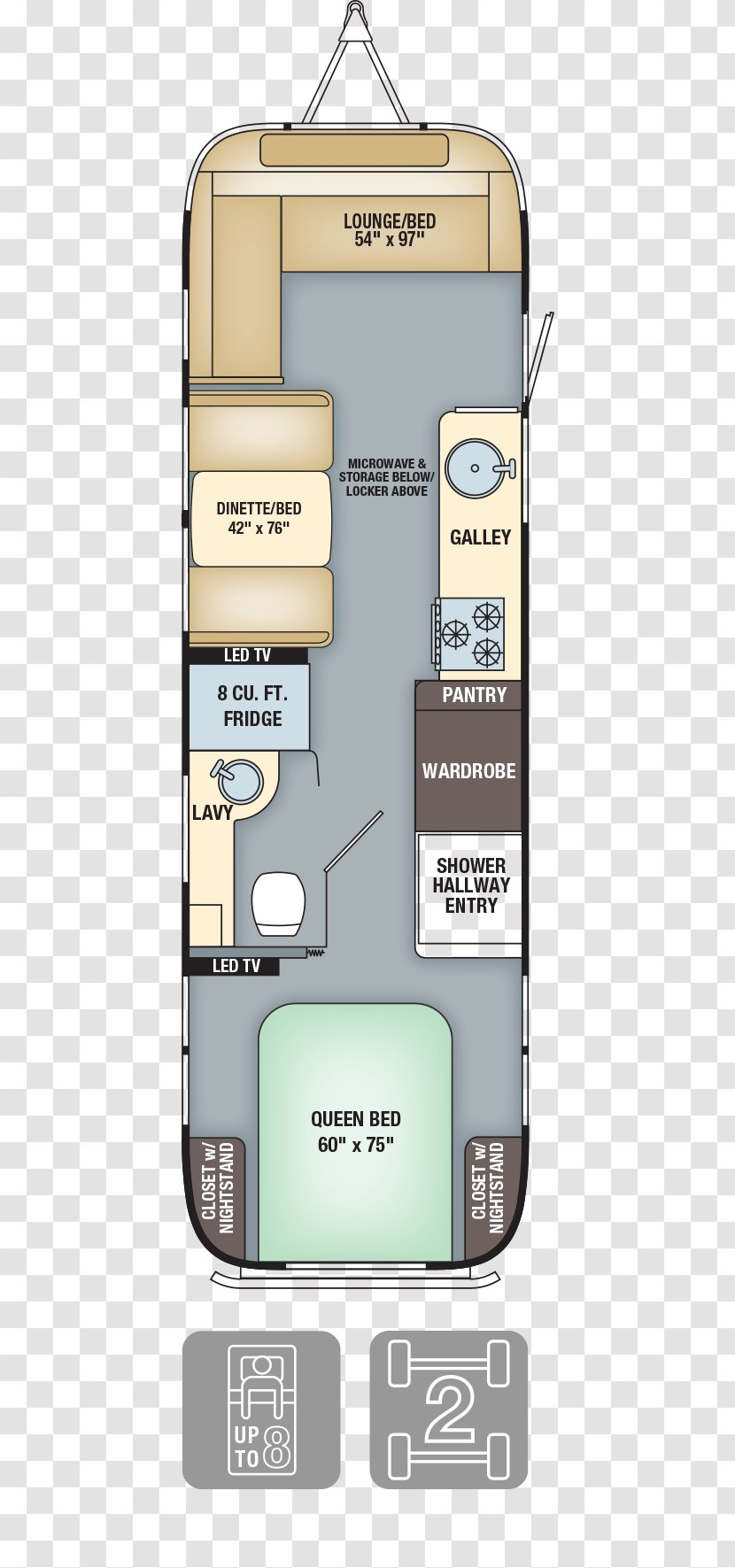 Airstream Caravan Floor Plan Interior Design Services Campervans Specification Bed Transparent Png
