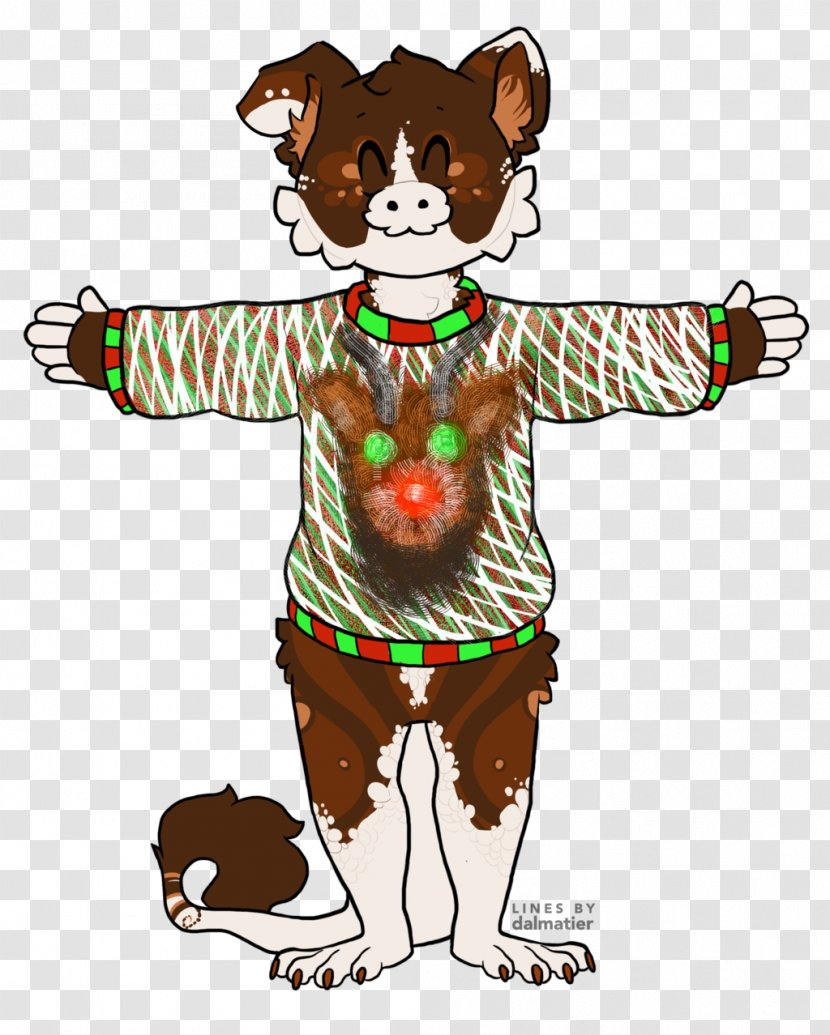 Dog Cat Canidae Clip Art Fictional Character Ugly Sweater Transparent Png
