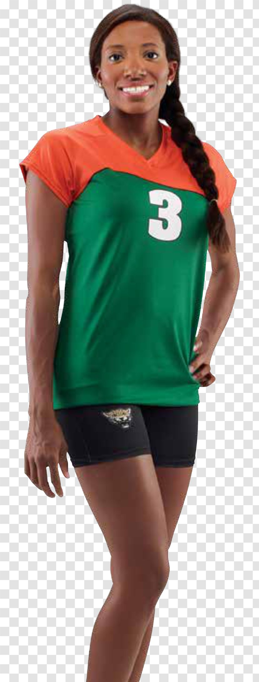Jersey T-shirt Sleeve Volleyball Uniform - Watercolor Transparent PNG