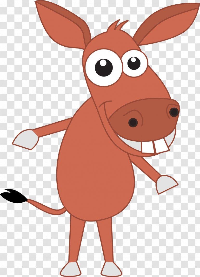 Domestication Of Animals Horse Cartoon Livestock Animal Big Buck Teeth Donkey Vector Transparent Png