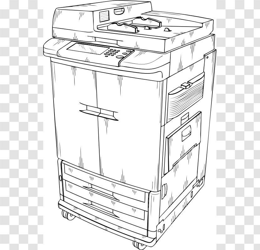 Architect Copier Machine Isolated In The Cartoon Royalty Free Cliparts,  Vectors, And Stock Illustration. Image 124086517.