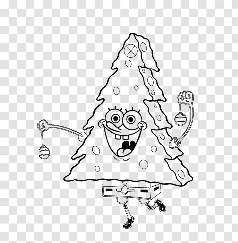 - SpongeBob SquarePants Colouring Pages Coloring Book Christmas Tree -  Spongebob Squarepants Transparent PNG