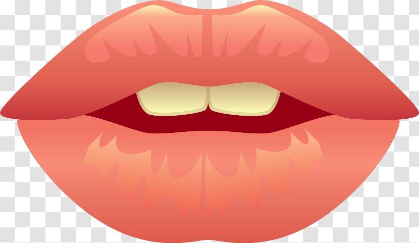 Lip Drawing Mouth Clip Art - Frame - Flower Transparent PNG