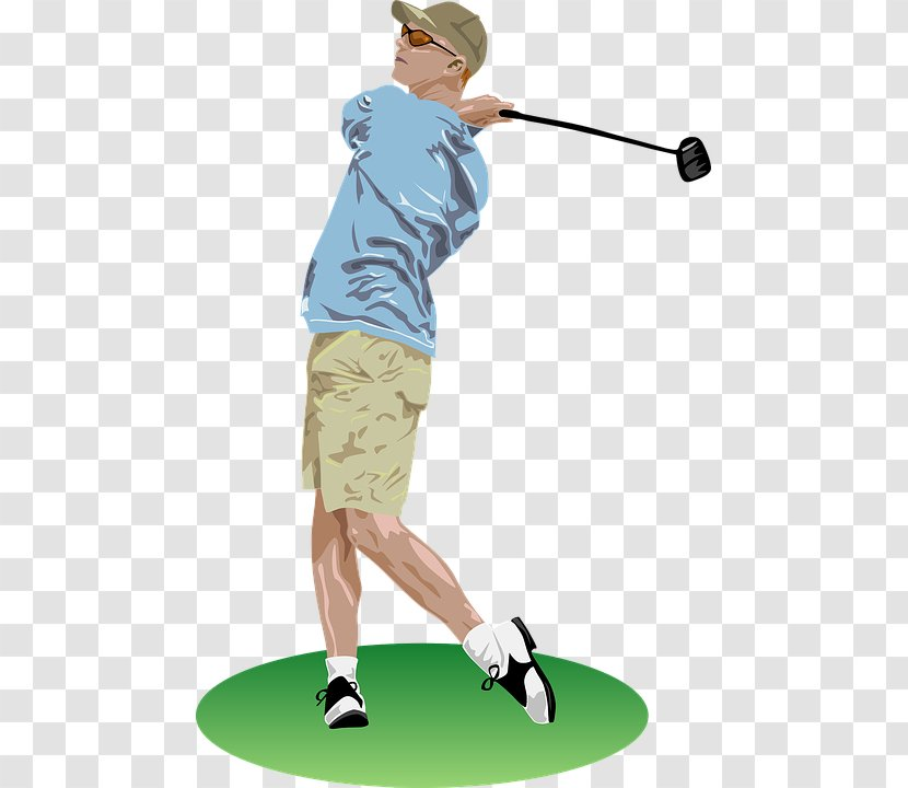 Golf Club Course Clip Art Sport Cartoon Blond Hair Motion Picture Yellow Background Transparent Png