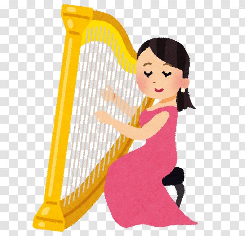 Celtic Harp Musical Instruments String Plucked Instrument - Musician Transparent PNG