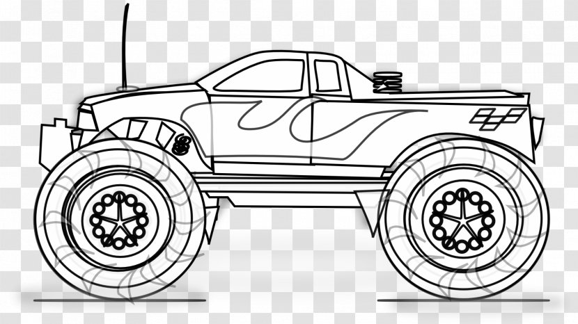 - Pickup Truck Colouring Pages Coloring Book Monster Batman - Wheel -  Military Dump Transparent PNG