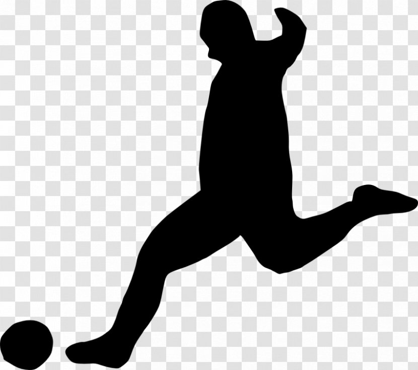 Football Player Clip Art - Silhouette Transparent PNG