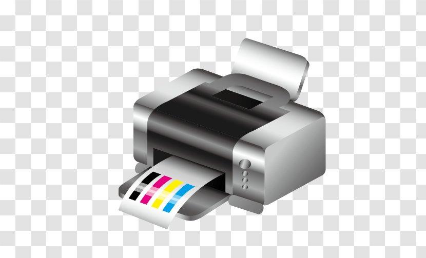 Printing Press Cmyk Color Model Icon Inkjet Cartoon Printer Transparent Png