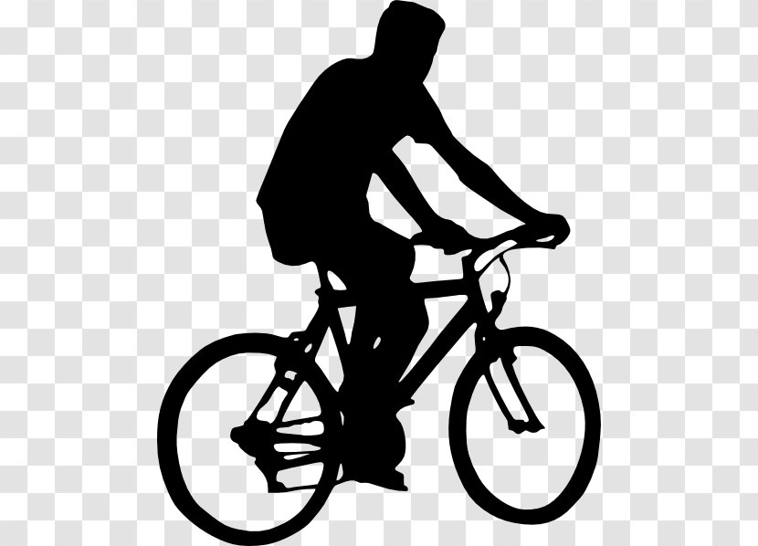 Bicycle Cycling Clip Art Black And White Bike Ride File Transparent Png