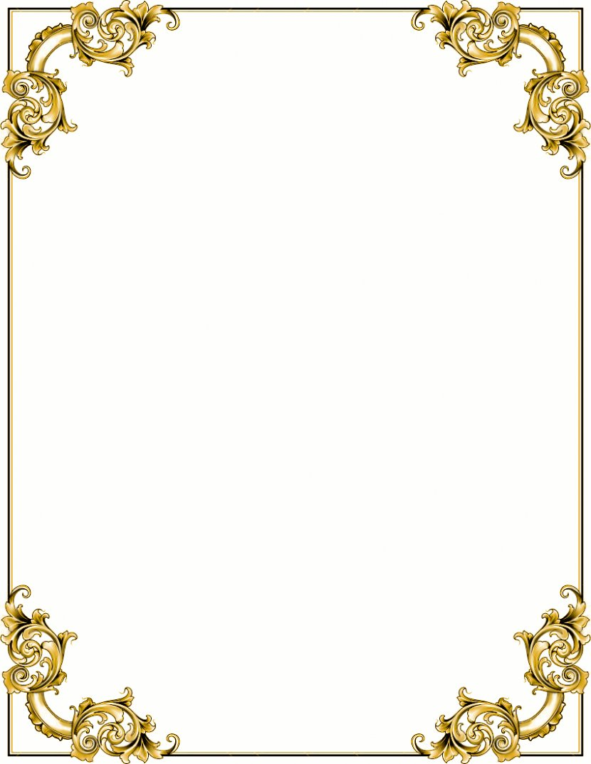 Baroque Ornament Gold Picture Frame Clip Art Jewellery Cross Borders Cliparts Transparent Png
