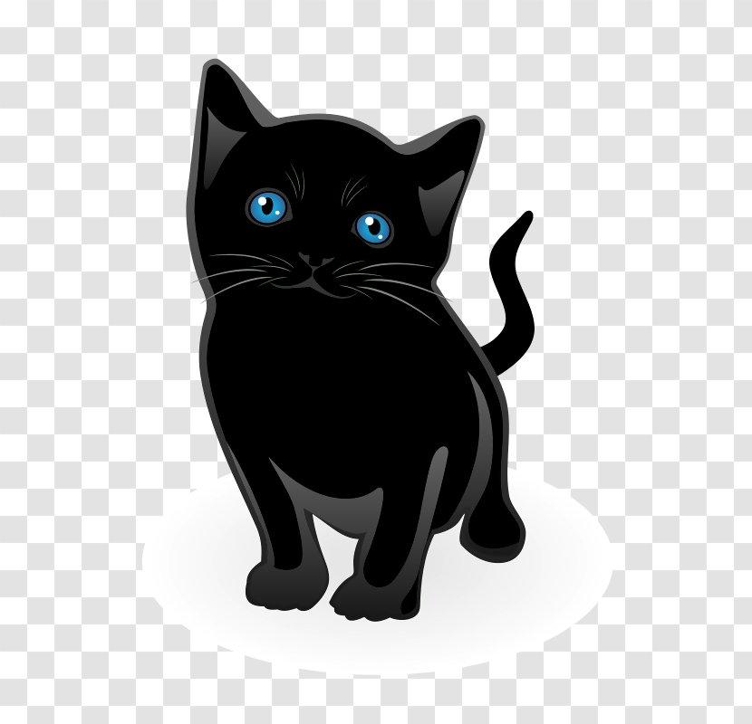 Kitten American Shorthair Black Cat Clip Art - Attack Transparent PNG
