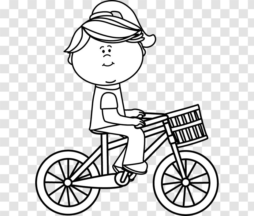 Bicycle White Black Clip Art And Rider Cliparts Transparent Png