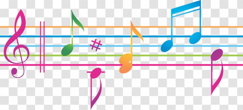 Vector Graphics Musical Note Sheet Music Illustration Backgrounds Notes Colorful Transparent Png