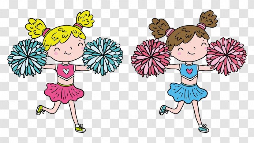 Cheerleader Performance Cartoon - Flower - Vector Cute Transparent PNG