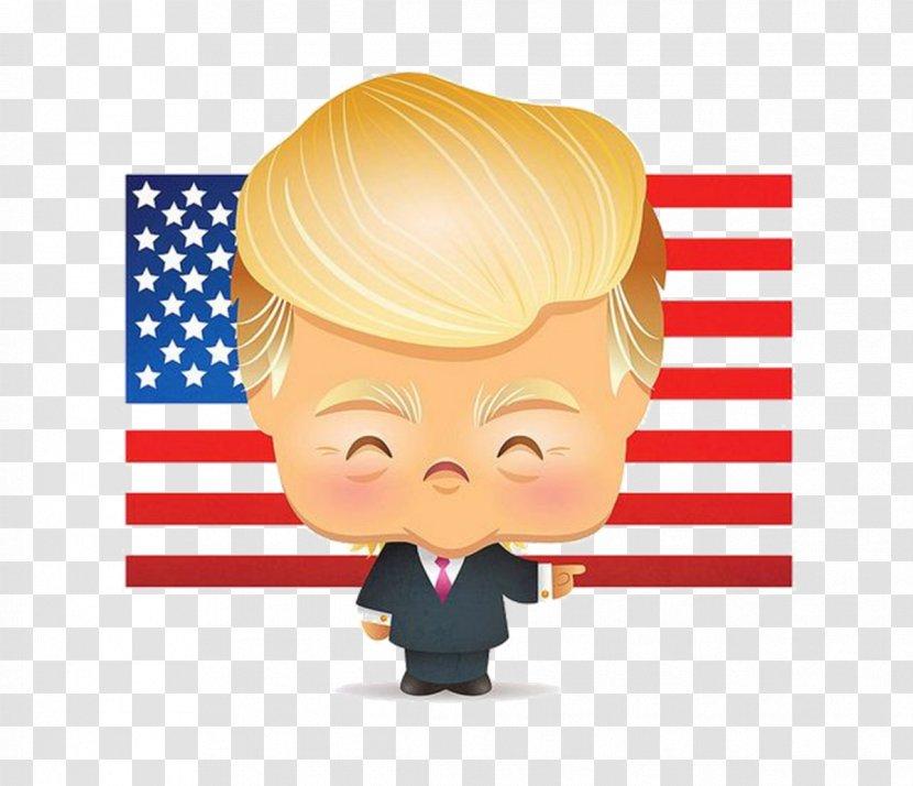 Donald Trump Drawing Kawaii Cartoon Barack Obama Transparent Png
