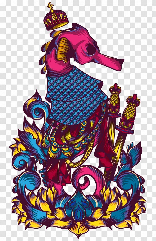 Seahorse Graphic Design Art Transparent Png