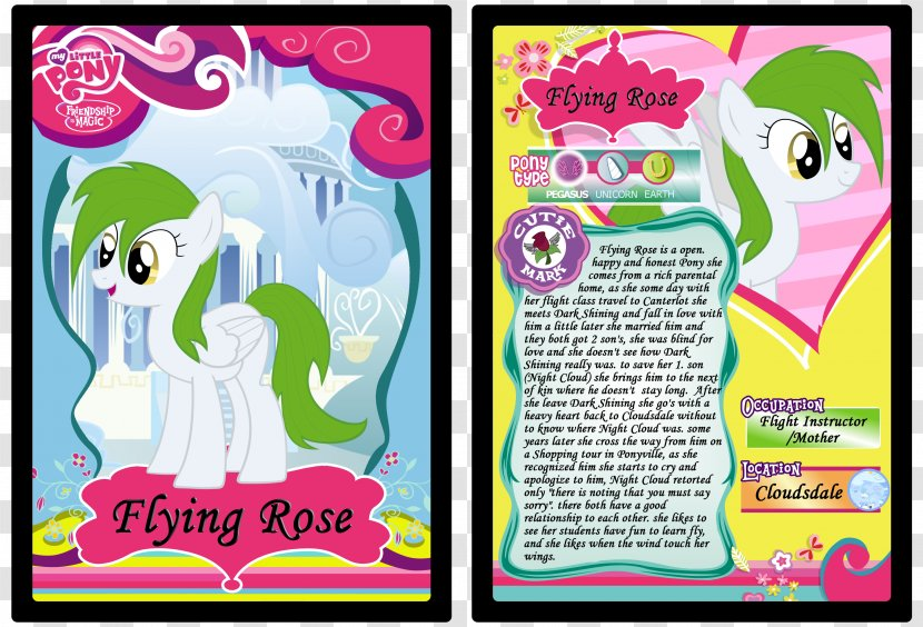 My Little Pony Collectible Card Game Playing Collectable Trading Cards - Pink - Valentine Night Transparent PNG