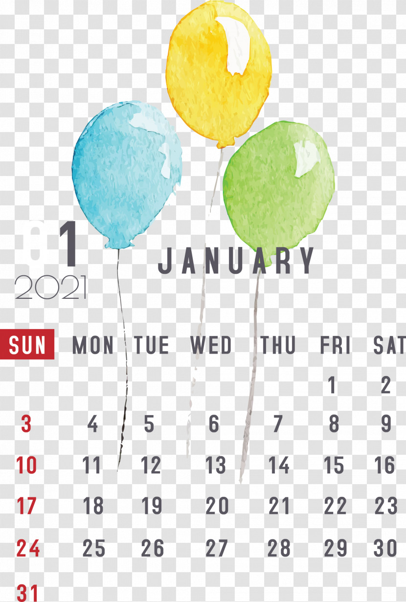 January January 2021 Printable Calendars January Calendar Transparent PNG