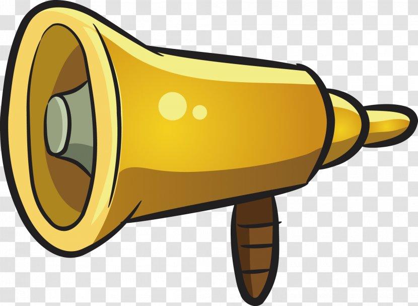 megaphone cartoon loudspeaker yellow speaker vector transparent png speaker vector transparent png