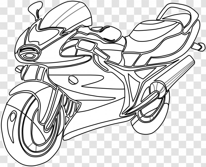 Motorcycle Coloring Book Harley-Davidson Chopper Honda - Heart Transparent  PNG