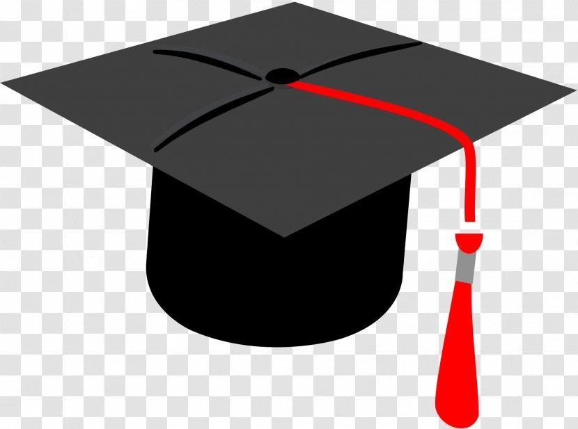 Square Academic Cap Graduation Ceremony Clip Art - Red Transparent PNG